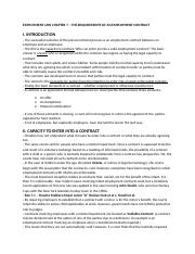 Chapter 7 - The Requirements of an Employment Contract.docx