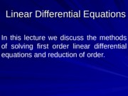 03 Linear Differential Equation