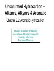 Chapter 3.3 Aromatic Hydrocarbon.ppt