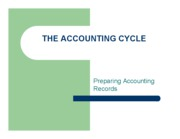 Preparing Accounting Records