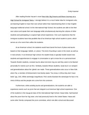 Immigration in Education Essay