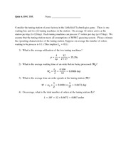 Quiz 4 - Littlefield game 1 - solution