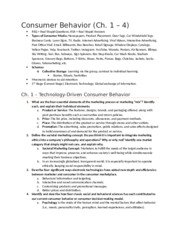 Exam 1 Study Guide Chapters 1-4