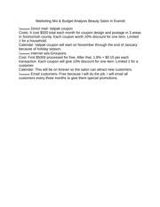 Sensation Beauty Salon Marketing Plan 4 Executive Summary ...