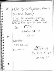 2.5 - Multi-Step Equations Notes (Part 1).pdf