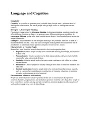 Language and Cognitio1