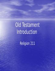 Old Testament 1 Introduction