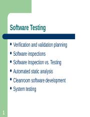 Chapter 8 - Software Testing