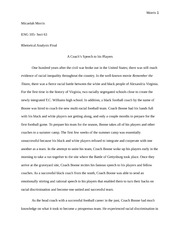 A coaches speech to his players revised edition 2 ENG 105