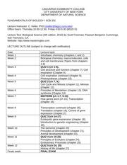 scb202syllabus rev20130228 laguardia community college city rh coursehero com Biology Laboratory Manual 9th Edition Vodopich Moore Biology Laboratory Manual 9th 2011