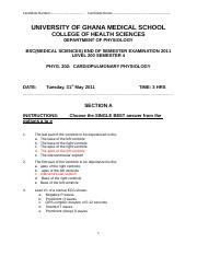 PHYG 202 FINAL EXAM MAY 2011