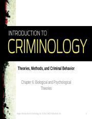 Chapter 6_Biological and Psychological Theories