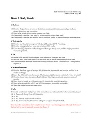 Exam 3 Study Guide on Information Security Systems