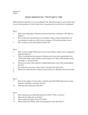 The Knight's Tale Questions