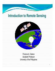 GE 1 - Introduction to Remote Sensing(1)
