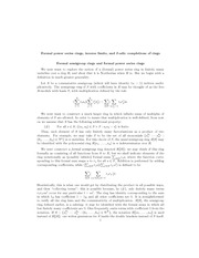 Formal power series rings, inverse limits, and I-adic completions of rings