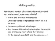 Lecture 15, Reality