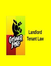 Landlord Tenant Law Main