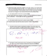 Sn2 Reaction Question Sample Set 1
