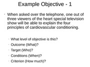 Example Objective - 1