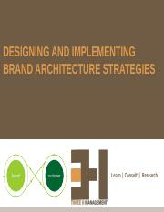 9. Designing and Implementing Brand Architecture Strategies