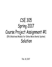 Project Assignment 1 Solution