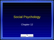 PSYC 101 Chapter 12 PowerPoints