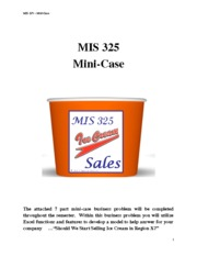 Mini-Case - Ice Cream Decision-Support Modeling