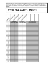 pyxis fill audit