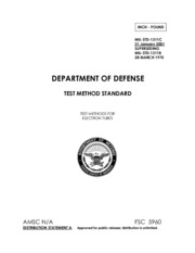 Electronics - MIL-STD-1311C TEST METHODS FOR ELECTRON TUBES