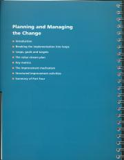 Part 4 - Planning and Managing the Change