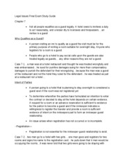 Legal Issues Final Exam Study Guide