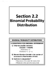 2.2 - Binomial Probability Distribution (Solutions)