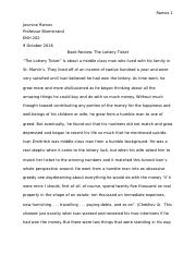 Book Review-The Lottery Ticket.docx