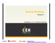 CEHv7 Module 05 System Hacking
