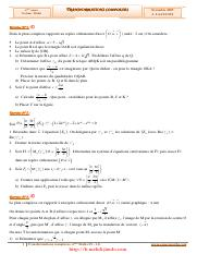 Serie d'exercices Corrigés - Math - Transformations complexes - 4ème Math (2009-2010).pdf