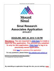 Preview_Sinai Research Associates Application