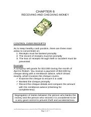 RECEIVING AND CHECKING MONEY.doc