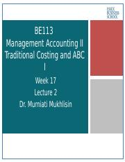 traditional management accounting