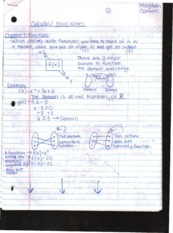 Class Notes Ch. 1 Functions