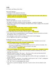 CH ANTH 1004 Notes 2 doc