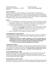 Intro Anth Syllabus Fall 2013