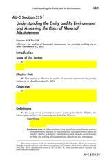 Q6-AUC 315 H Understanding the Entity & Risks of Material Misstatement - Processes