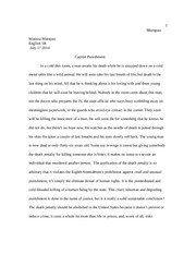 Rohatgi Capital Punishment Essay