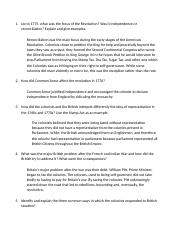 1301 American Revolution Short Answer Questions (1).docx