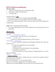 CLAS 1270 note Historical outline part 1