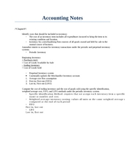 Accounting Notes Ch.9