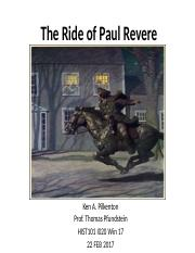 The Ride of Paul RevereFINAL