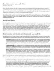 brand rejuvenation a case study of sony A consumer recommendation and loyalty study, conducted by engaged strategy, suggests that many businesses have a huge opportunity to grow even in a shrinking economy the analysis of five major australian industry sectors utilised the highly regarded net [.