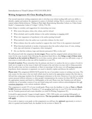 Writing Assignment Close Reading Notes